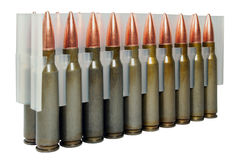 Hunting cartridges .308Win Stock Image