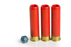 Hunting cartridges and bullet for them Stock Images