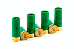 Hunting cartridges for shotgun Royalty Free Stock Photos