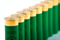 Hunting cartridges for shotgun. 12 caliber Royalty Free Stock Photography