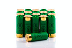Hunting cartridges for shotgun Royalty Free Stock Image