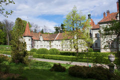 Hunting castle of Count Schonborn in Carpaty Stock Photos
