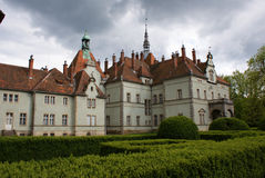 Hunting castle of Count Schonborn in Carpaty Royalty Free Stock Images
