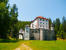 Hunting castle Sneznik in Slovenia Royalty Free Stock Photography