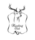Hunting club badge Royalty Free Stock Photo