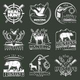 Hunting Club Emblem Set Royalty Free Stock Photo