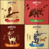 Hunting Club Emblems Set Royalty Free Stock Photography