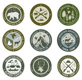 Hunting club, fishing and illustrations logo. Royalty Free Stock Photos