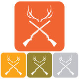 Hunting club logo icon Royalty Free Stock Image