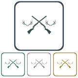 Hunting club logo icon. Vector illustration Royalty Free Stock Image