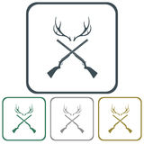 Hunting club logo icon. Vector illustration Stock Photography