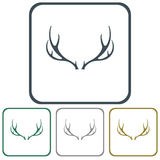 Hunting club logo icon. Vector illustration Royalty Free Stock Images