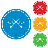 Hunting club logo icon Royalty Free Stock Images