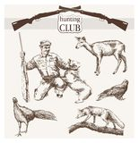 Hunting club Stock Photo