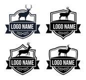 Hunting deer sport badge emblem vector logo design. Template Stock Photography