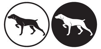 Hunting dog. The figure shows the dog Stock Photo