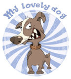 Hunting Dog Badge Cartoon Royalty Free Stock Photo