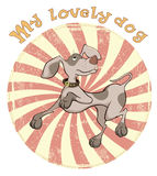 Hunting Dog Badge Cartoon Stock Photos