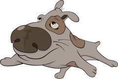 The hunting dog. Cartoon Royalty Free Stock Photo