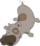 The hunting dog. Cartoon Royalty Free Stock Image