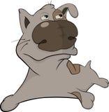 The hunting dog. Cartoon Royalty Free Stock Photos