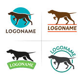 Hunting dog logo Stock Photo