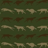 Hunting dogs seamless background Stock Images