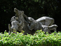 Hunting dogs statue Stock Images