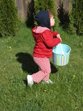 Hunting for Eggs Stock Image