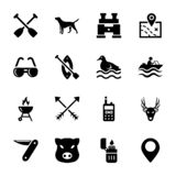 Hunting elements icons vector illustration