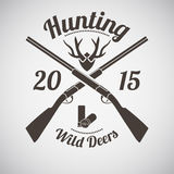Hunting Emblem Royalty Free Stock Photo