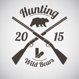 Hunting Emblem Stock Photography