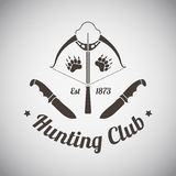 Hunting Emblem Stock Photo
