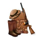 Hunting equipment retro icon Royalty Free Stock Photo