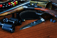 Hunting equipment Royalty Free Stock Photography