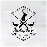 Hunting Fever Badge Badge Royalty Free Stock Image