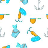 Hunting for fish pattern, cartoon style. Hunting for fish pattern. Cartoon illustration of hunting for fish vector pattern for web Royalty Free Stock Photography