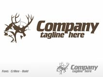 Hunting and Fishing. Logo Royalty Free Stock Image