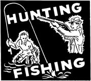 Hunting Fishing Royalty Free Stock Images