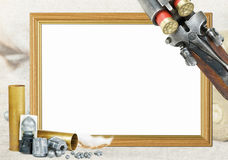 Hunting frame for photo Royalty Free Stock Images