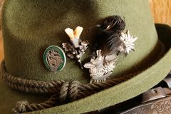 Hunting hat with badges Royalty Free Stock Photography