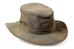 Hunting hat. Isolated on white Stock Photos
