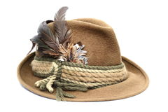 Hunting hat over white Royalty Free Stock Photo