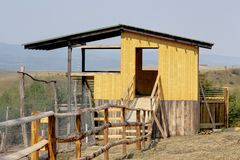 Hunting hide structure Royalty Free Stock Photos