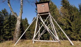 Hunting hut royalty free stock photography