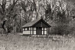 Hunting Hut in the Forest Stock Images