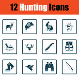 Hunting icon set Stock Images