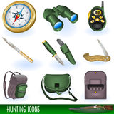 Hunting icons Stock Images