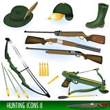Hunting icons 2 Stock Photos