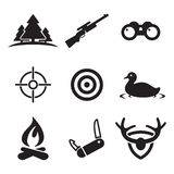 Hunting Icons Royalty Free Stock Images